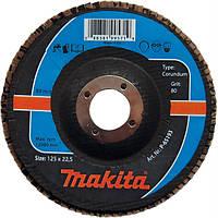 Лепестковый диск для стали корунд Makita 115 мм K60 (P-65143)