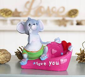 Статуетка для дрібниць мишка I love you 026 A 080-81B