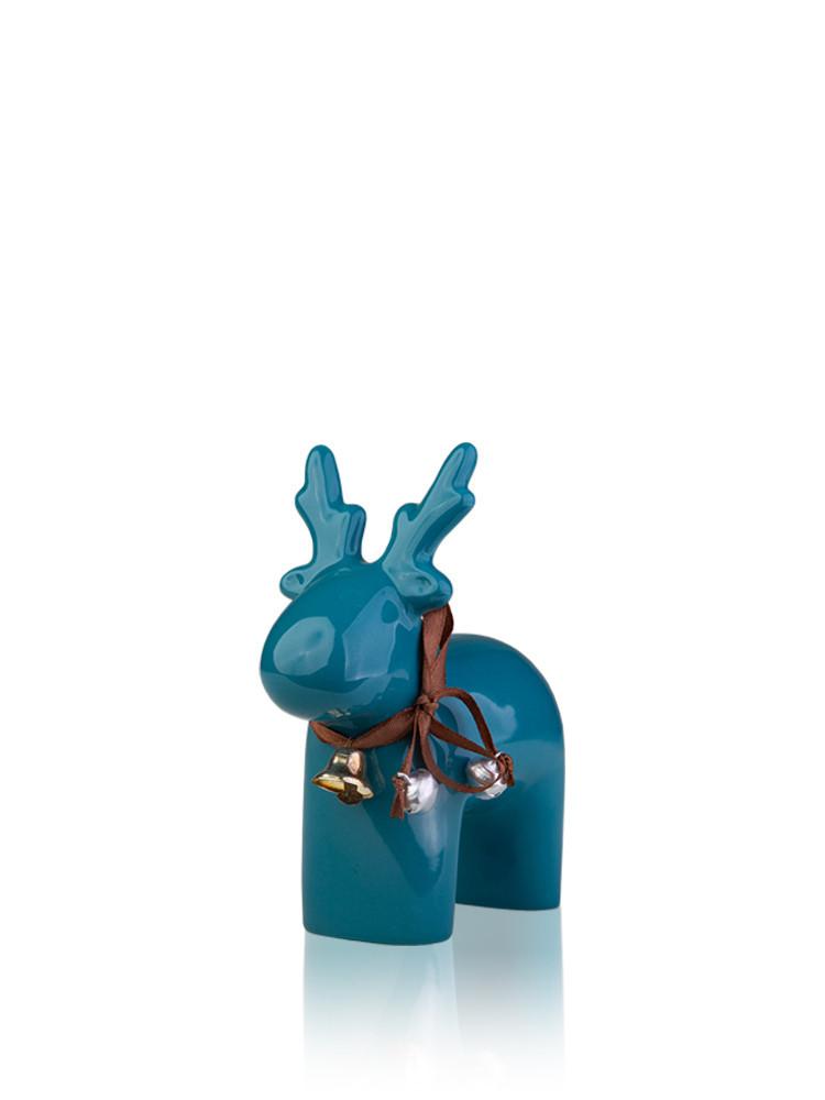 Статуэтка керамика Олень голубой 12*5.5*14 см 1407-14 голубой