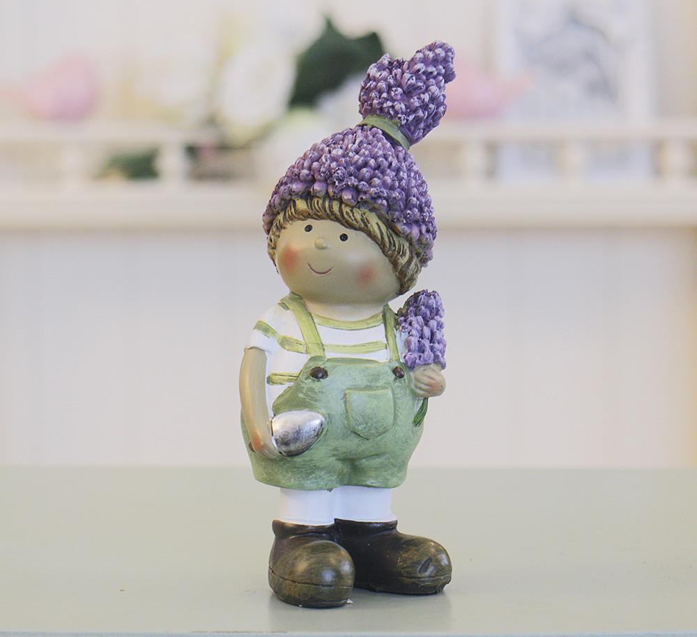Декоративные статуэтка мальчик Лаванда h10см 1003608-2 зел.шорт