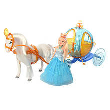 Карета с лошадью 258A Разноцветный