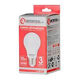 Светодиодная лампа LED 10Вт, E27, 220В, INTERTOOL LL-0014, фото 6