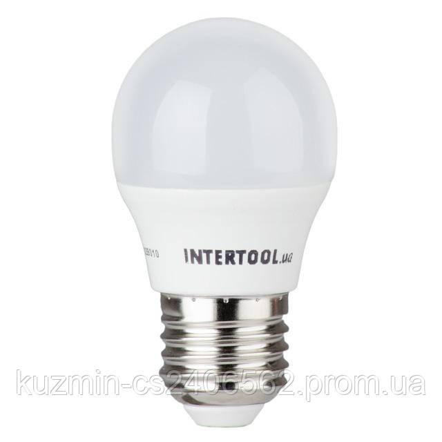 Светодиодная лампа LED 5Вт, E27, 220В, INTERTOOL LL-0112