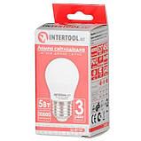 Светодиодная лампа LED 5Вт, E27, 220В, INTERTOOL LL-0112, фото 5