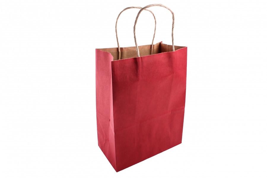 Подарочный пакет темно-красный 25*12*33 см 3-2667