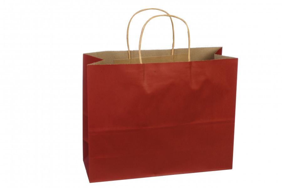 Подарочный пакет темно-красный 32*11*25 см 3-2742