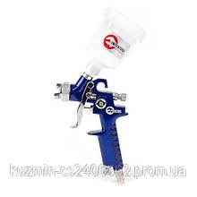 Пистолет покрасочный пневматический HVLP мини форсунка 0.8мм верхняя подача. бачок 125мл INTERTOOL PT-0101