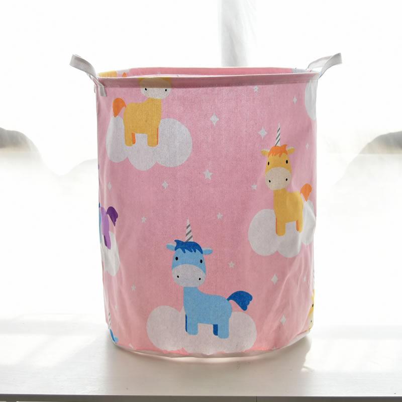 Корзина для игрушек, белья, хранения Единороги на облаках, розовый Berni Home