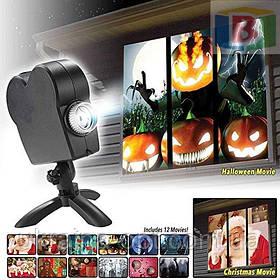 Проектор лазерный новогодний и Led Рисунки разноцветные и 12 слайдов