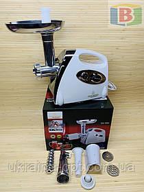 Мясорубка Crownberg CB-1054, с соковыжималкой, реверс, 3000 Вт