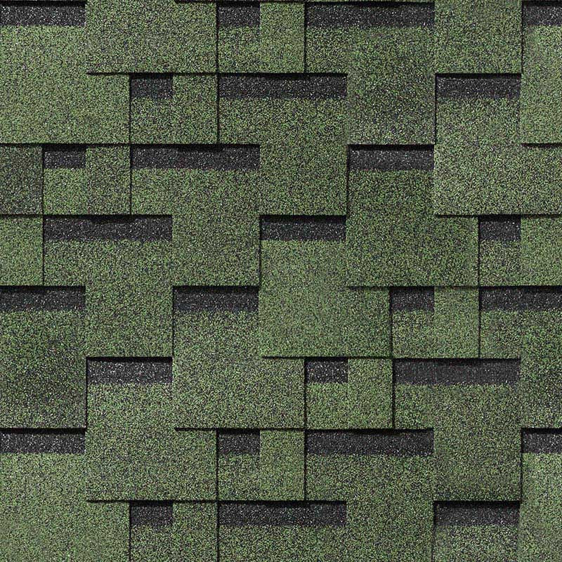 Битумная черепица DOCKE PIE, СЕРИЯ EUROPA Matrix (Дёке Европа), зеленый