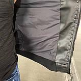 Мужская весенняя кожанная куртка/бомбер Valentino черная, фото 8