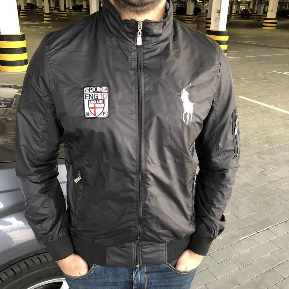 Мужская весенняя куртка Polo черная