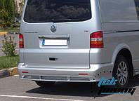 Volkswagen T5 Multivan 2003-2010 гг. Накладка на задний бампер ABT (под покраску)