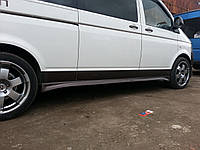 Volkswagen T5 Transporter 2003-2010 гг. Боковые пороги Спорт (под покраску)