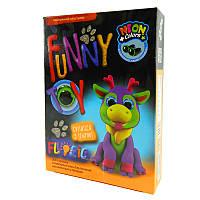 Набор креативного творчества Danko Toys AIR CLAY FLUORIC 4 цвета AICL-FL-01