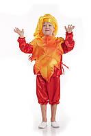 Детский карнавальный костюм для мальчика «Осенний лист» 110-120 см, оранжевый и красный