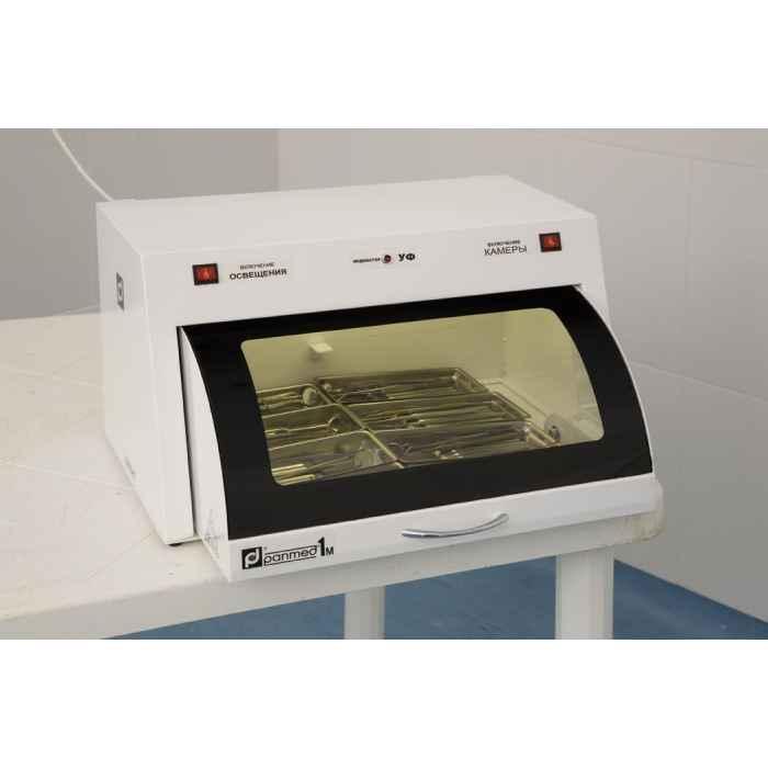 УФ камера для хранения стерильного инструмента ПАНМЕД-1М (со стеклянной сектор-крышкой 500мм)