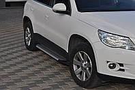 Volkswagen Tiguan 2007-2016 гг. Боковые площадки X5-тип (2 шт, алюм)