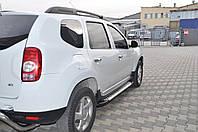 Renault Duster 2008+ гг. Боковые площадки X5-тип (2 шт., алюминий)