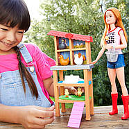 Кукла Barbie Куриная Ферма Chicken Farmer Doll, фото 7