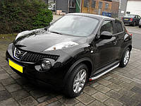 Nissan Juke 2010+ гг. Боковые площадки Fullmond (2 шт, алюм.)
