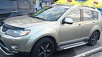 Mitsubishi Outlander 2008-2013 гг. Боковые площадки X5-тип (2 шт, алюм.)
