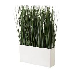 ИКЕА (IKEA) ФЕЙКА, 402.076.83, Искусственное растение и кашпо, трава - ТОП ПРОДАЖ