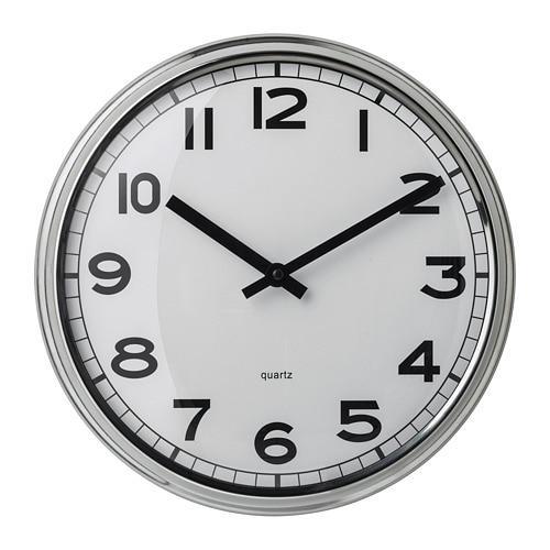 ИКЕА (IKEA) ПУГГ, 103.919.08, Часы, нержавеющ сталь - ТОП ПРОДАЖ