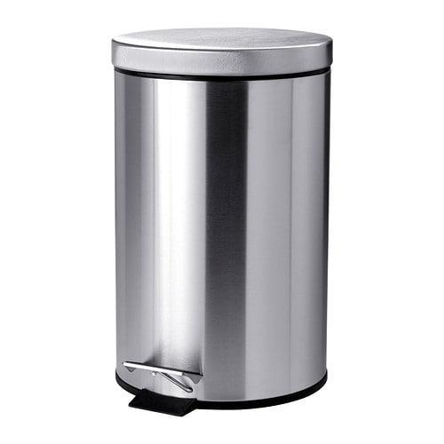 ИКЕА (IKEA) СТРАПАТС, 502.454.15, Ведро с откидной крышкой, нержавеющ сталь, 12 л - ТОП ПРОДАЖ