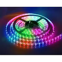Светодиодная LED лента RGB 5050 (300LED) с блоком питания и пультом комплект 5 метров не боится воды IP68