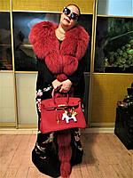 Эксклюзивное пальто Дольче Габбана, кардиган меховой Ручная вышивка.Мех песца