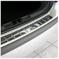 BMW X3 F-25 2011+ гг. Накладка из стали на задний бампер OmsaLine (нерж.)