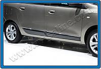 Dacia Lodgy 2013+ гг. Молдинг дверной (4 шт, нерж.)