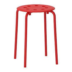 ИКЕА (IKEA) МАРИУС, 002.461.96, Табурет, красный - ТОП ПРОДАЖ