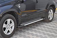 Suzuki Grand Vitara 2005-2014 гг. Боковые площадки X5-тип (2 шт, алюм)