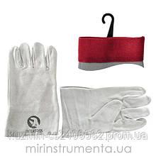 Перчатка замшевая (крага) INTERTOOL SP-0015