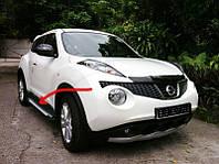 Nissan Juke 2010+ гг. Боковые площадки X5-тип (2 шт, алюм.)