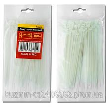Хомут пластиковый белый (стяжка нейлоновая), 4.8x300 мм INTERTOOL TC-4830