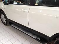 Nissan Qashqai 2007-2010 гг. Боковые площадки X5-тип (2 шт., алюм.)