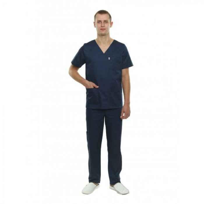 Медицинский костюм Мадрид синий №126