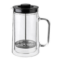 ИКЕА (IKEA) EGENTLIG, 903.589.76, Кофе-пресс/заварочный чайник, двойная стена, прозрачное стекло, 0.9 л - ТОП ПРОДАЖ