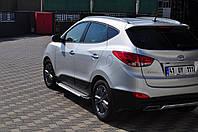 Hyundai IX-35 2010-2015 гг. Боковые площадки X5-тип (2 шт, алюм.)