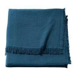 ИКЕА (IKEA) ODDRUN, 303.957.88, Плед, синий, 130x170 см - ТОП ПРОДАЖ