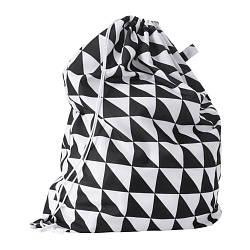 ИКЕА (IKEA) СНАЙДА, 503.299.43, Мешок для белья на опоре, черный/белый, 60 л - ТОП ПРОДАЖ