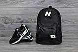 Молодежный городской, спортивный рюкзак, портфель New Balance, нью бэланс. Черный Vsem, фото 8