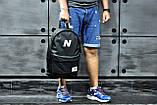 Молодежный городской, спортивный рюкзак, портфель New Balance, нью бэланс. Черный Vsem, фото 9
