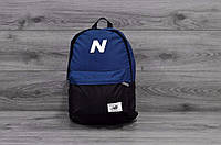 Рюкзак спортивный New Balance, Нью Бэланс. NB. Синий с черным. Vsem