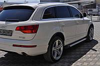 Audi Q7 2005-2015 гг. Боковые площадки X5-тип (2 шт., алюминий)