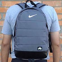 Рюкзак городской, спортивный Nike Air, найк. Качество. Серый с черным Vsem